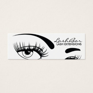 Black & White Lash Extensions business card