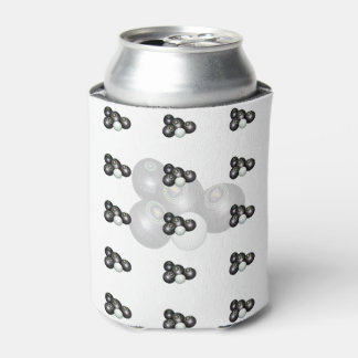 Black_White_Lawn_Bowls_Stubby_Can_Holder Can Cooler