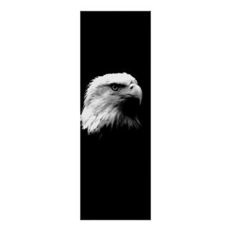 Black White Leadership Eagle Eyes Door Poster