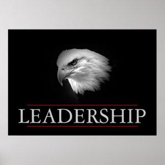 Black White Leadership Fearless Eagle Poster