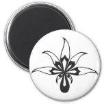 Black/White Leaf Fridge Magnets