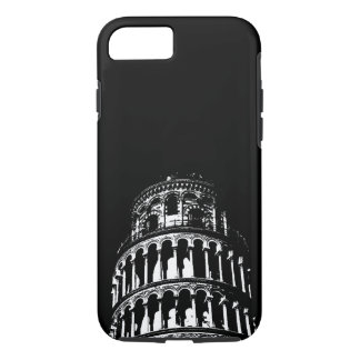 Black White Leaning Tower of Pisa Italy iPhone 8/7 Case