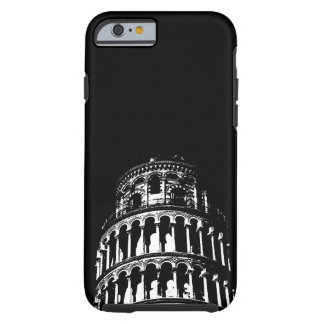 Black White Leaning Tower of Pisa Italy Tough iPhone 6 Case