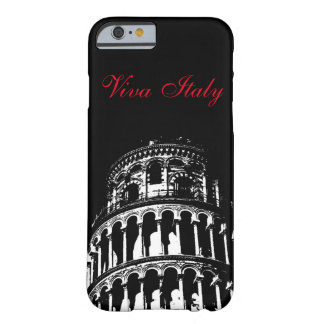 Black White Leaning Tower of Pisa Italy Viva Italy Barely There iPhone 6 Case