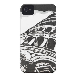 Black & White Leaning Tower Sketch iPhone 4 Case-Mate Case