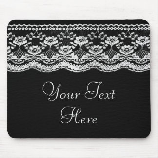 Black & White Leather & Lace Mousepads