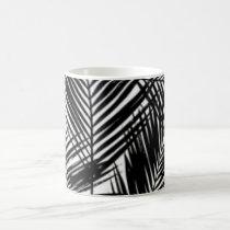 Black & White Leaves Pattern Print Design Coffee Mug