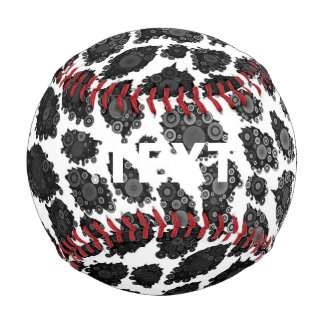 Black White Leopard Baseball