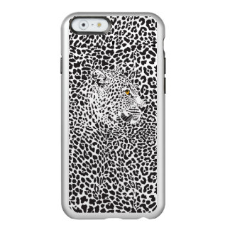 Black & White Leopard Camouflaged In Spots Pattern Incipio Feather® Shine iPhone 6 Case