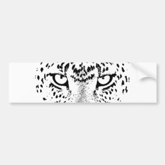 Black & White Leopard Eyes Bumper Sticker