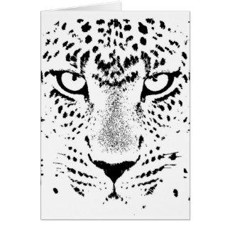 Black & White Leopard Eyes Card