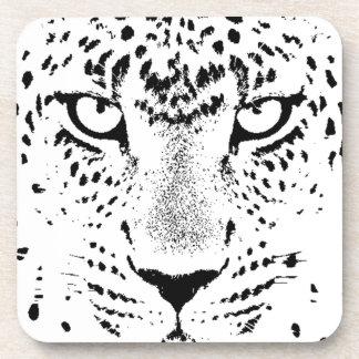 Black & White Leopard Eyes Drink Coasters