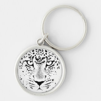 Black & White Leopard Eyes Key Chain