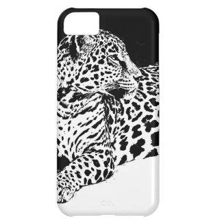 Black & White Leopard iPhone 5C Cover
