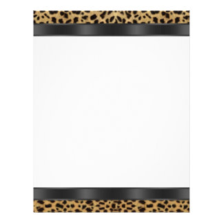 Black White Leopard Letterhead