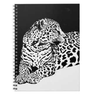Black & White Leopard Notebook