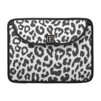 Black & White Leopard Print Animal Skin Patterns MacBook Pro Sleeve