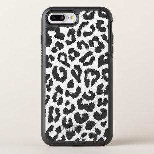 7796f19abd75 Black & White Leopard Print Animal Skin Patterns OtterBox Symmetry iPhone 8  Plus/7 Plus