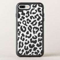 Black & White Leopard Print Animal Skin Patterns OtterBox Symmetry iPhone 8 Plus/7 Plus Case