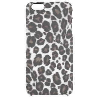 Black White Leopard Print Pattern Classic Stylish Clear iPhone 6 Plus Case