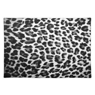 Black & White Leopard Print Placemat