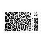 Black & White Leopard Print Postage Stamps