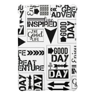 BLACK WHITE LIFE GOOD GREAT ADVENTURE INSPIRED COL iPad MINI CASE