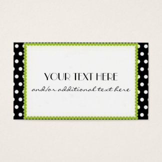 Black, White & Lime Business Card