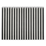 Black & White Linen Look Classic Vertical Stripe Calendar