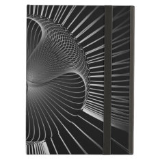 Black White Lines Abstract Cover For Ipad Air at Zazzle