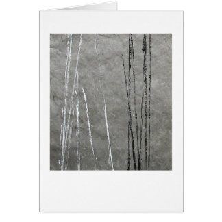 Black & white lines on gray abstract art card