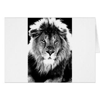 Black & White Lion Card