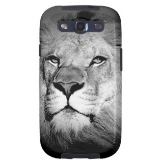 Black & White Lion Samsung Galaxy SIII Covers