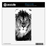 Black & White Lion Decal For iPhone 4