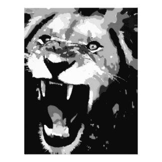 Black & White Lion Flyer