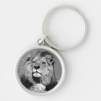 Black & White Lion Keychains