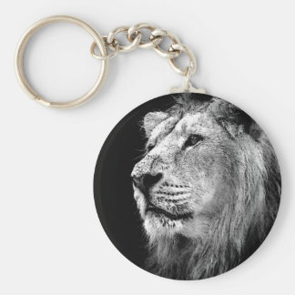Black & White Lion Key Chain