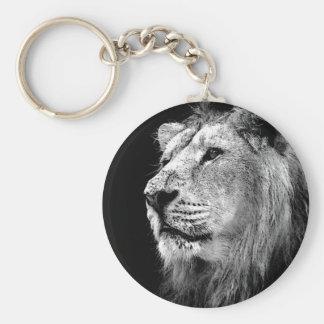 Black & White Lion Keychain