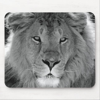 Black & White Lion Mouse Pad