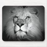 Black & White Lion Mouse Pads
