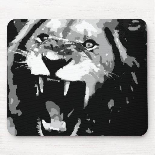 Black & White Lion Mousepad