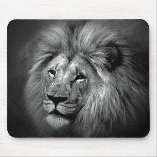 Black & White Lion Photo Mouse Pad