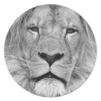 Black & White Lion Plate