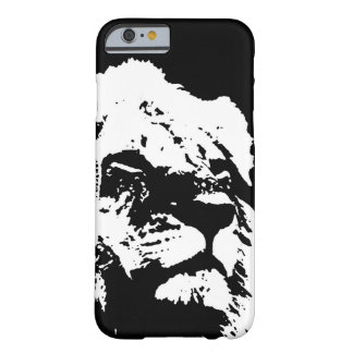 Black & white lion pop art barely there iPhone 6 case