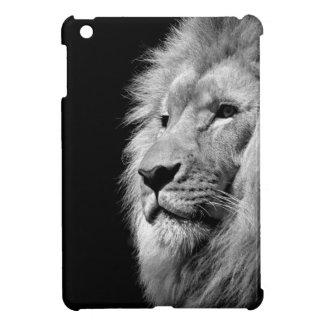 Black White Lion Portrait - Animal Photography iPad Mini Case