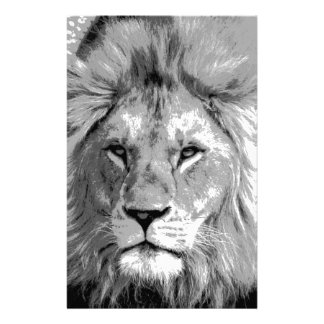 Black White Lion Stationery