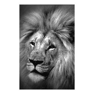Black & White Lion Stationery