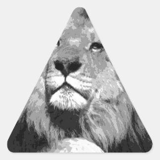 Black & White Lion Sticker