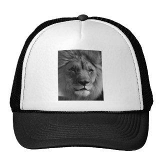 Black & White Lion Trucker Hat