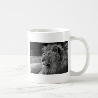 Black & White Lion - Wild Animal Coffee Mug